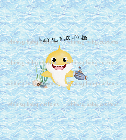 Child Panel Baby Shark Watercolour on SWIM