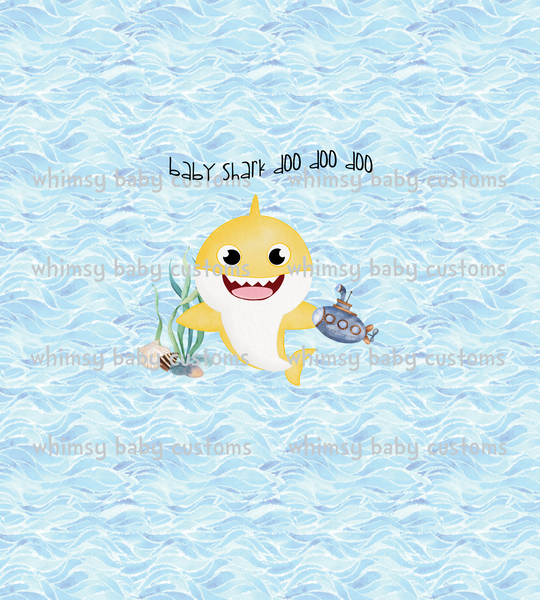 C015 Child Panel Baby Shark Watercolour