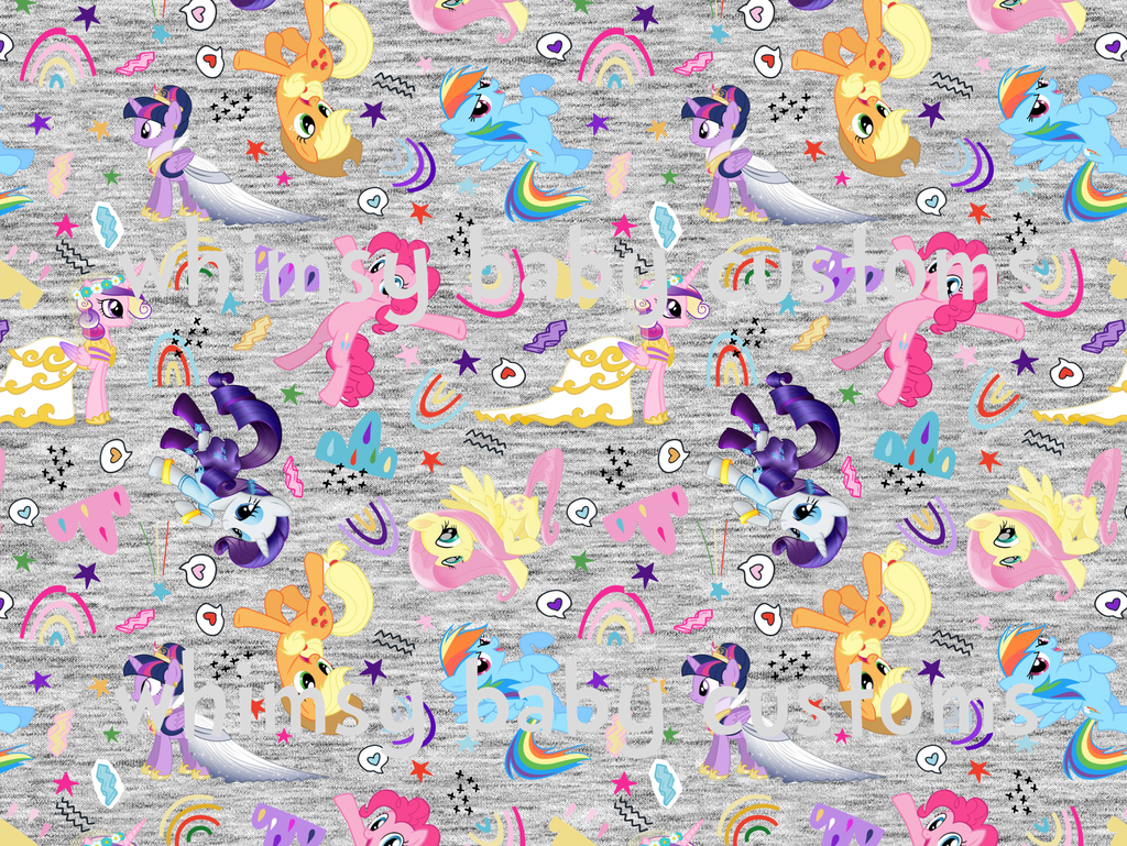 Fabric My Little Pony Remixed on BAMBOO