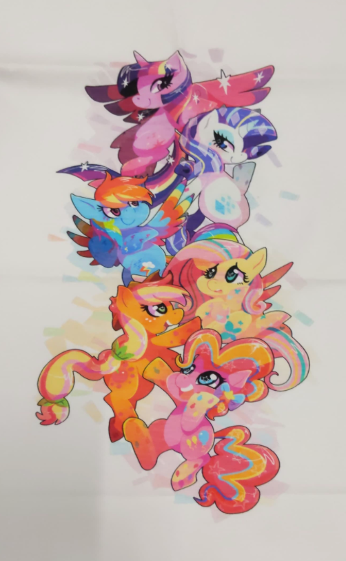 C168 My Wittle Pony Group (Vertical Watercolour) Child Panel