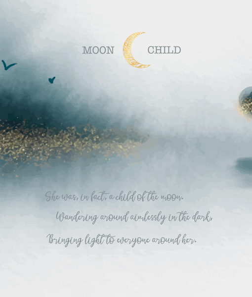 February 2021 Preorder - Adult/Romper Panel Moon Child