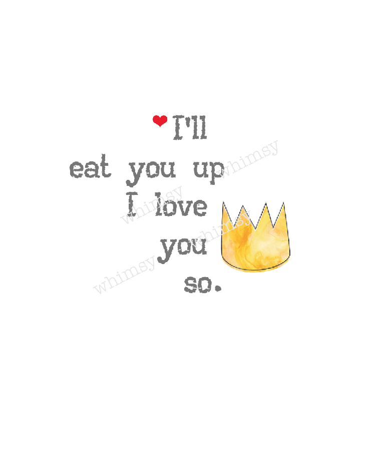 C061 Wild Things: I'll Eat You Up I Love You So Crown Panel