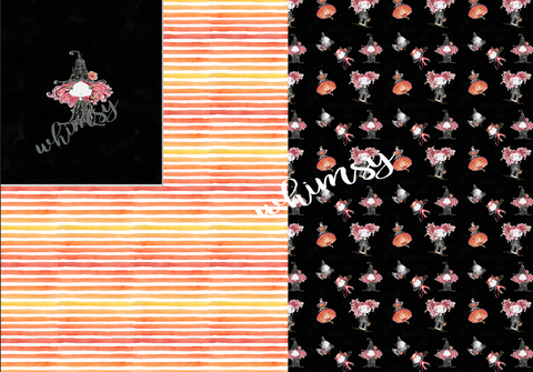 Halloween Fabric: Zombie Girl Witch Rapport
