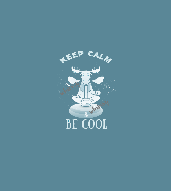 Adult/Romper Panel Keep Calm and Be Cool