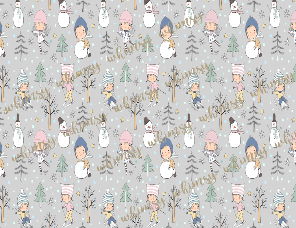 A Perfect Winter Day - GIRL Fabric - FRENCH TERRY
