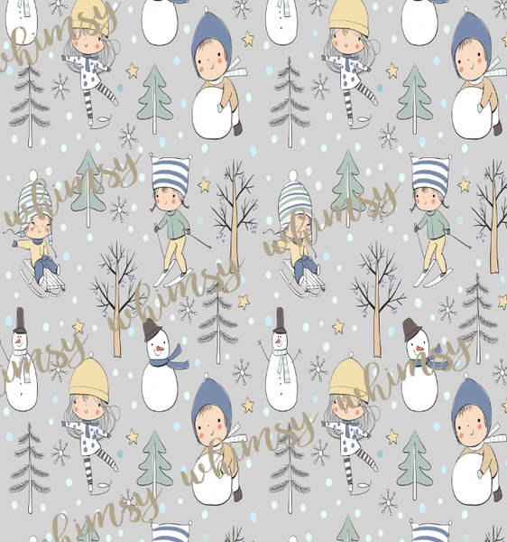 A Perfect Winter Day BOY Fabric -  FRENCH TERRY