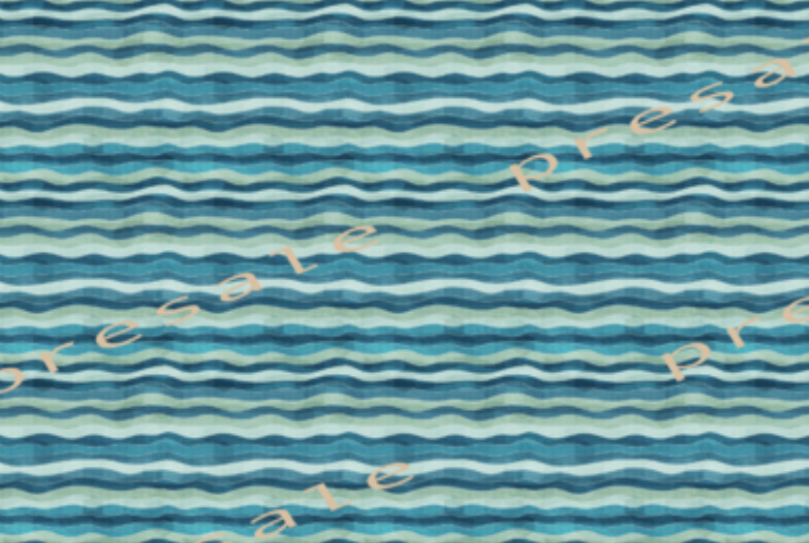 Watercolour Waves (Moana) Fabric
