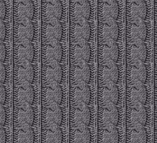 Charcoal Cable Knit Fabric
