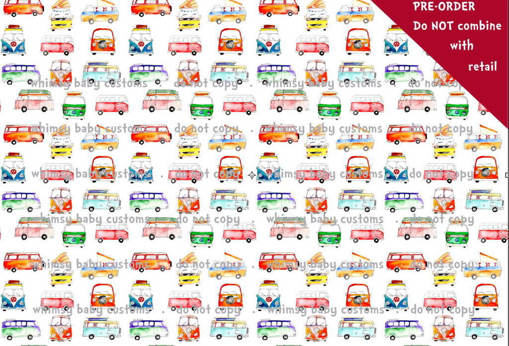 International Emma Watercolours VW Vans Fabric