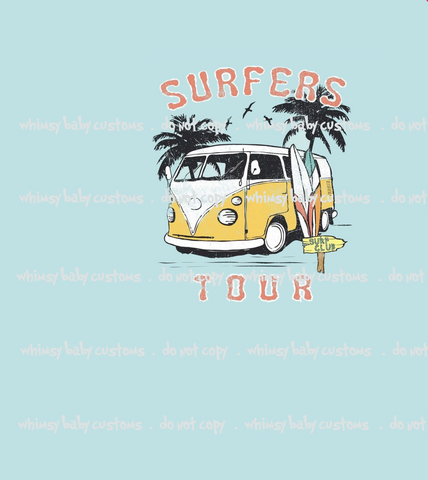 Surfer's Tour VW Van Child Panel (Swim Fabric)