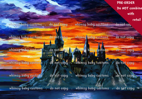 Internationa - CityScape fabric Harry potter castle