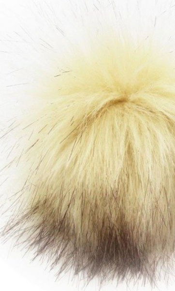 Faux Fur Pom Pom (With Snap) - Ships from US ONLY