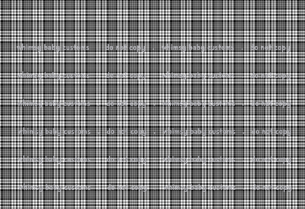 New Arrivals: Black and White Plaid Tartan