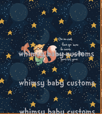 International - Adult/Romper Panel The Little Prince in FRENCH
