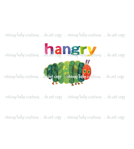 891 Hungry Caterpillar HANGRY Child Panel