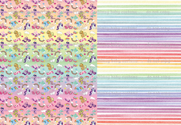 International - Fabric My Little Pony Half and Half (Pink) ON BRUSHED POLY