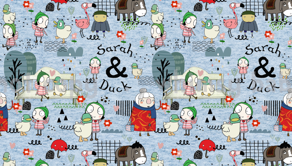 Fabric Sarah and Duck ON VARIOUS BASES