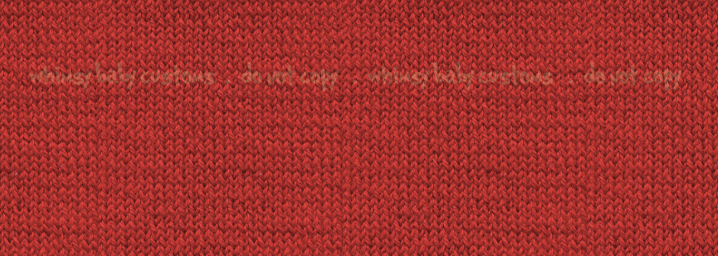 Flash Christmas Preorder - Fabric Red Cable Knit
