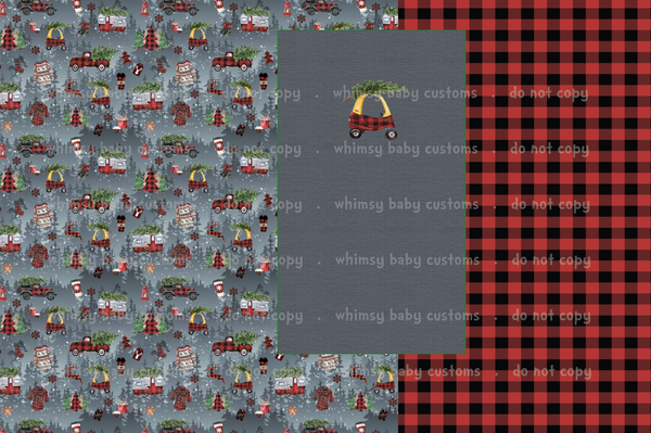 International - Fabric Little Tykes Buffalo Plaid Christmas Half and Half VARIOUS BASES