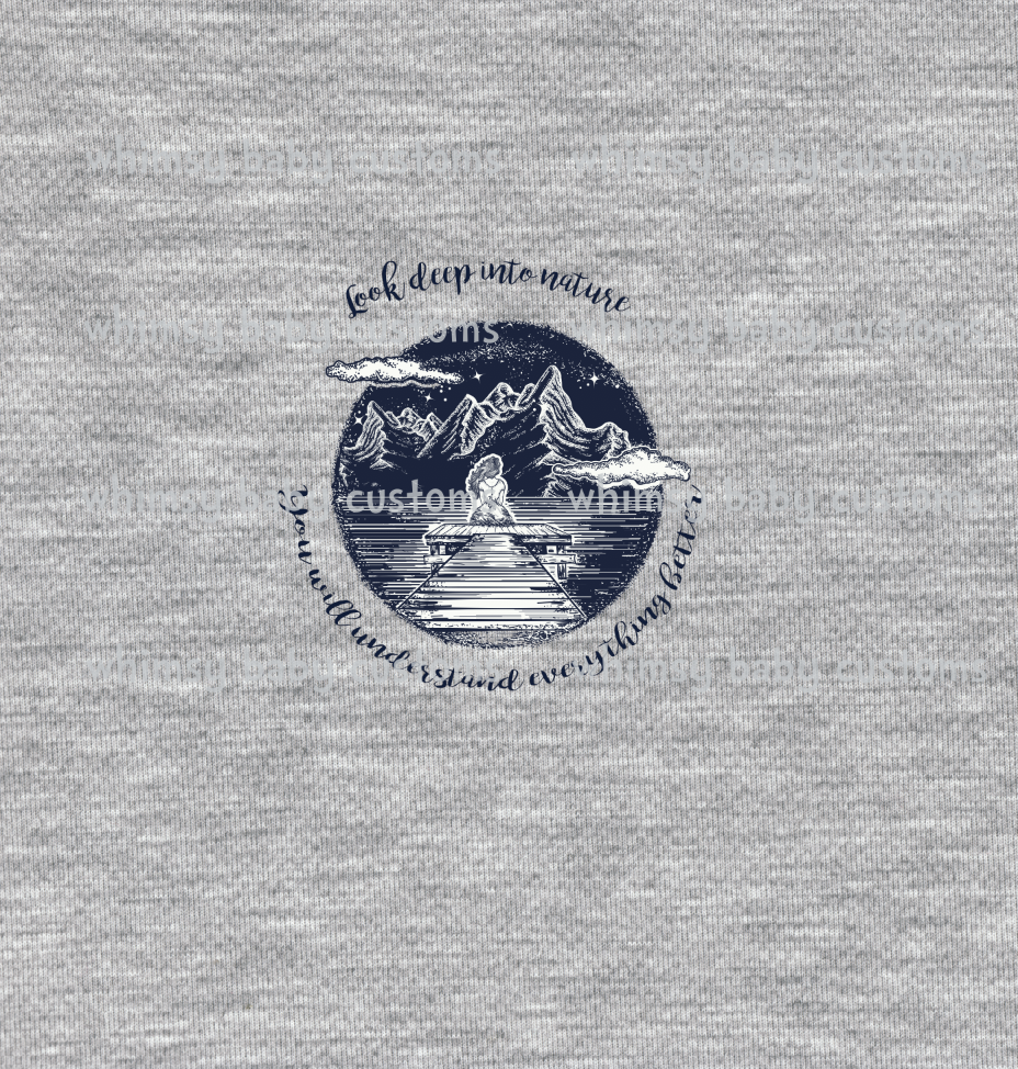 304H Child Panel Look Deep into Nature on Heather Grey