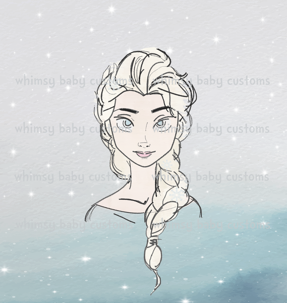 International - Child Panel Cold Sisters 2: Hand Drawn Ice Queen