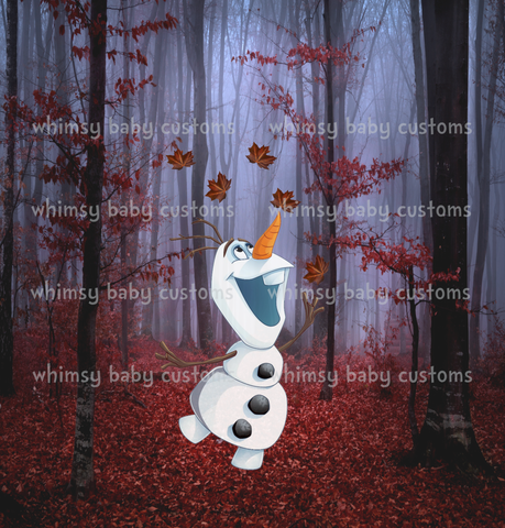 International - Child Panel Cold Sisters 2: Autumn Snowman in the Forest