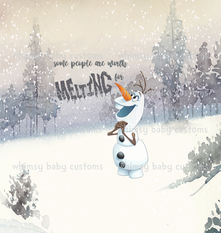 Nov/Dec 2019 Preorder - Child Panel Frozen Olaf Some People Are Worth Melting For
