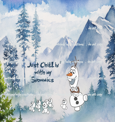 Nov/Dec 2019 Preorder - Child Panel Frozen Olaf Just Chillin' with my Snomies