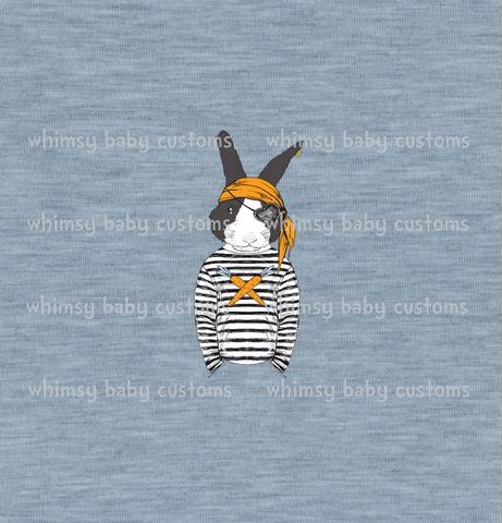 International - Adult/Romper Panel Pirate Bunny Remixed