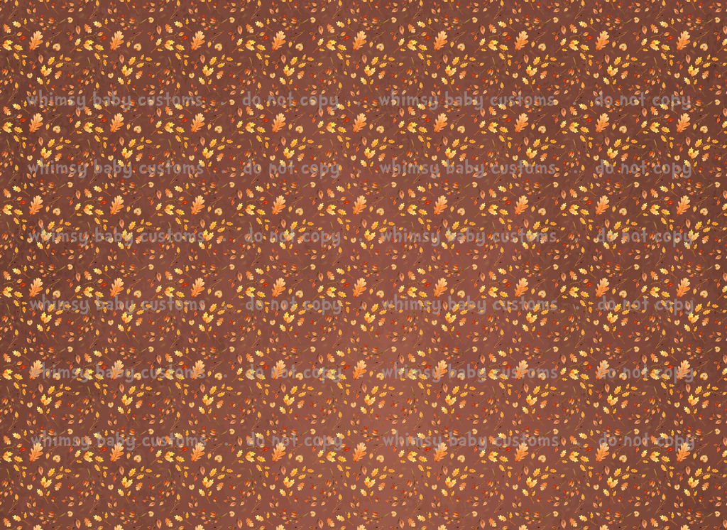 Cold Sisters 2: Fabric Autumn Leaves on Brown (French Terry)