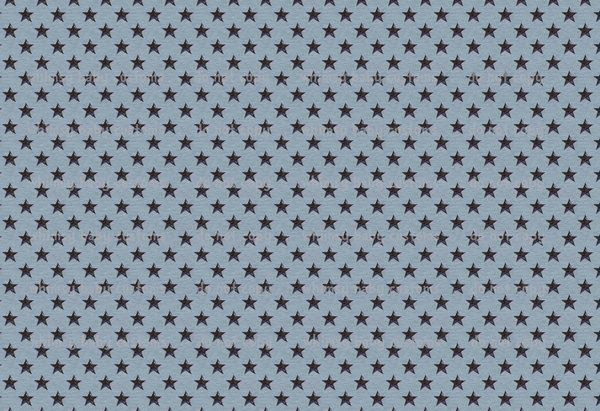 International - Fabric Black Grunge Stars on Light Blue Knit