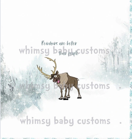 C260 Cold Sisters 2: Reindeers are Better Than People Child Panel (Cotton Lycra)