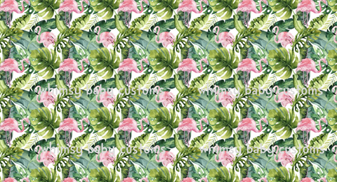 Feb/March 2020 Preorder - Fabric Love Summer Flamingos ON VARIOUS BASES