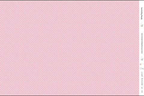 Pink Gingham on Woven