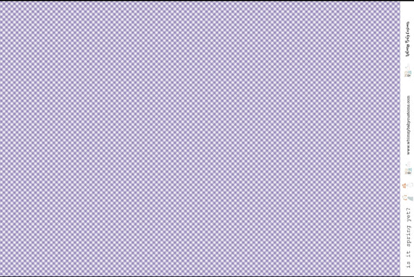 Purple Gingham on Woven