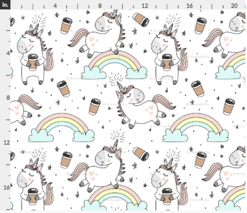 Unicorn Coffee Fabric