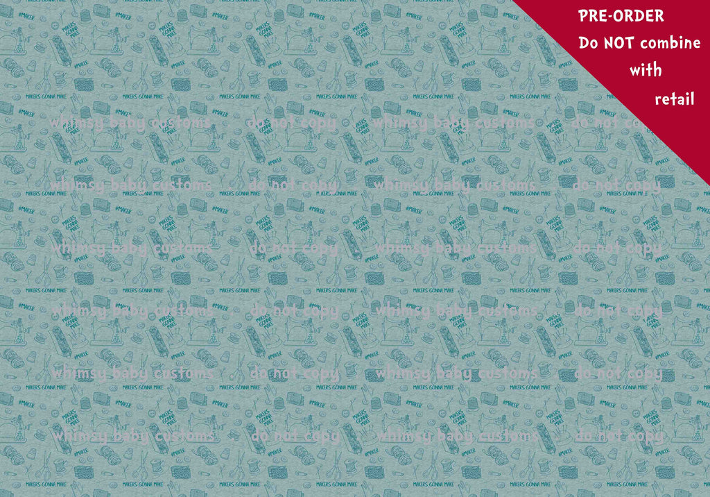 Fabric Sewing makers gonna make on heather sea green