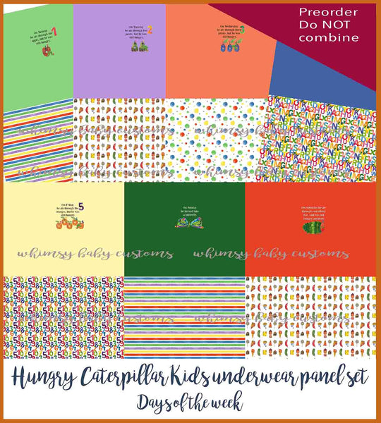 New Arrivals - The Hungry Caterpillar Children's Underwear Panel days of the week bundle