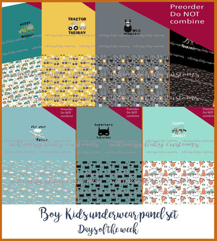 New Arrivals - Boy Children's Underwear Panel BUNDLE - Days of the Week BUNDLE