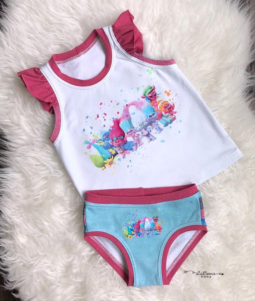 UC001 Trolls Group Girl Children's Underwear Panel