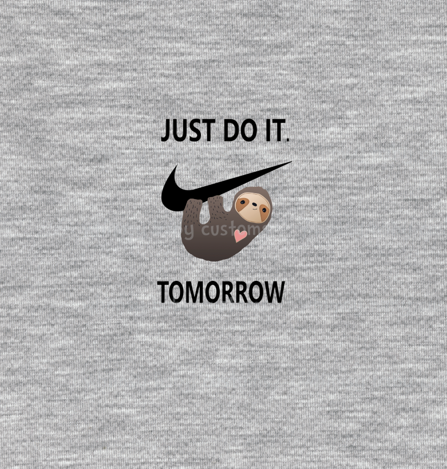 International - Adult/Romper Panel Sloth Just Do It Tommorow