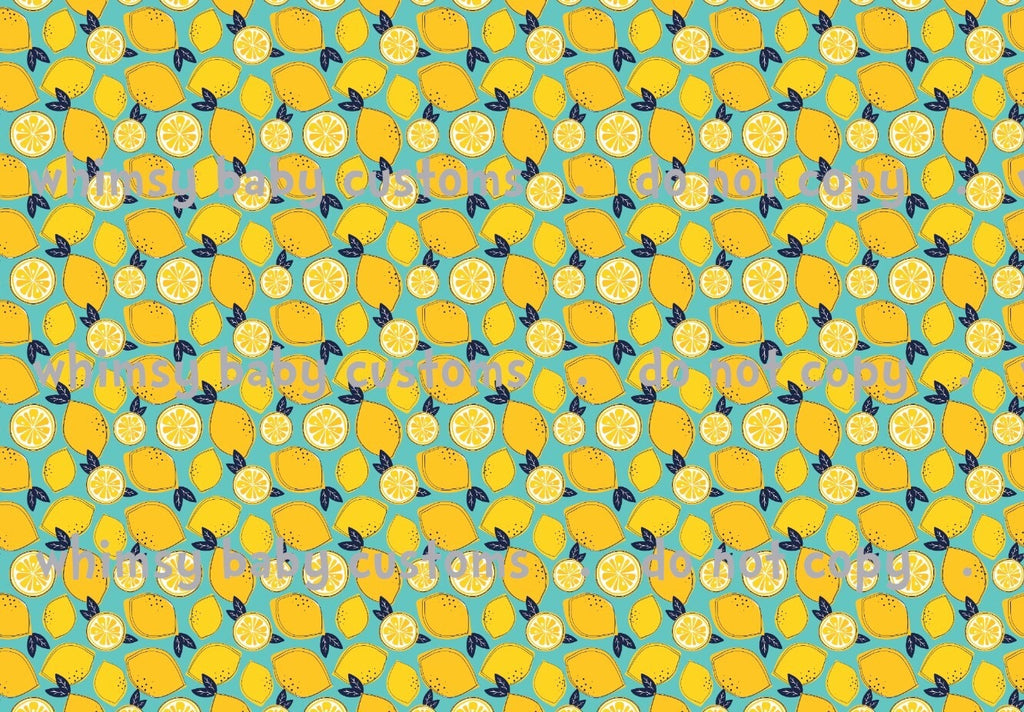 Fabric Scribble Lemons