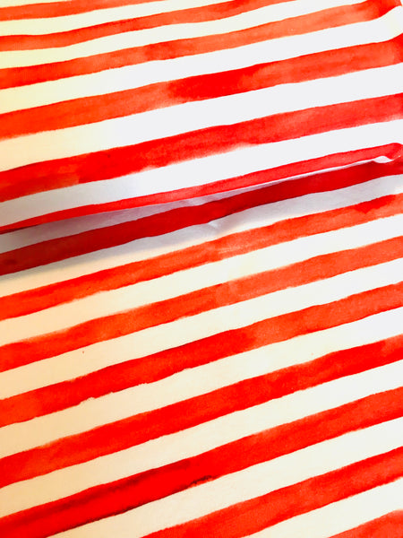 Watercolour Stripes Red