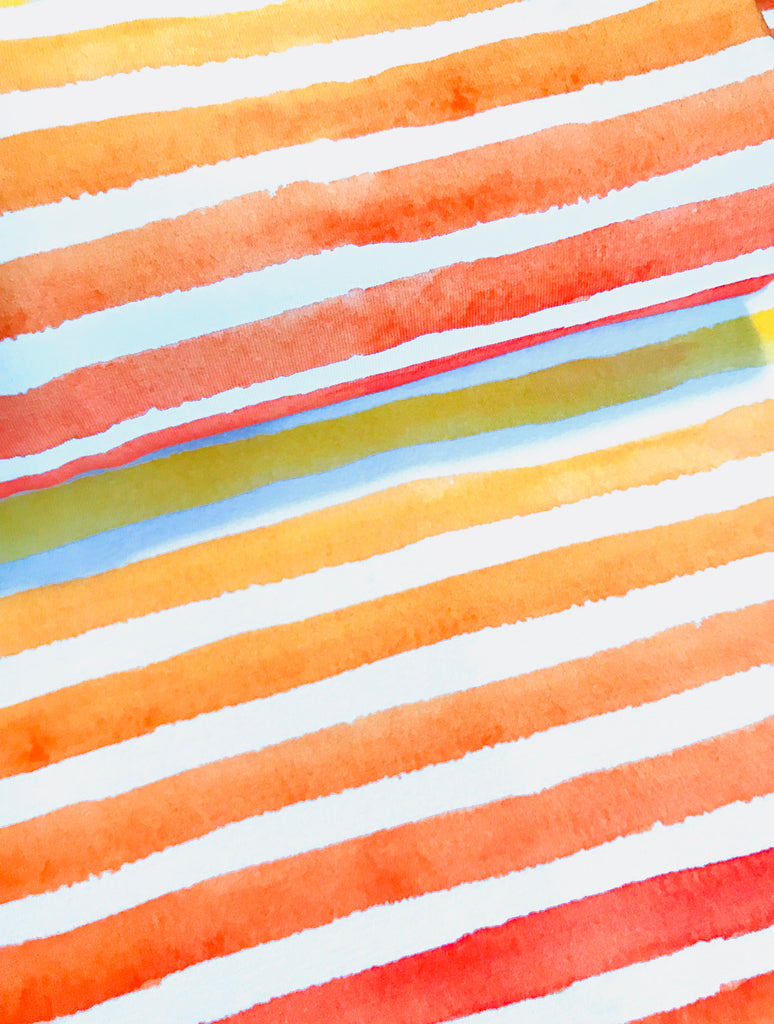 International Watercolour Stripes Orange