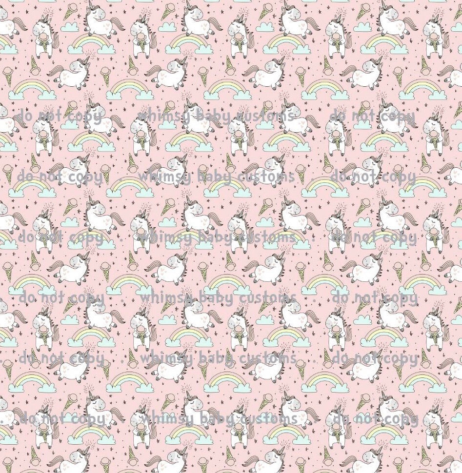 I Believe in Unicorns (and Ice Cream) Swim Fabric RETAIL IN STOCK