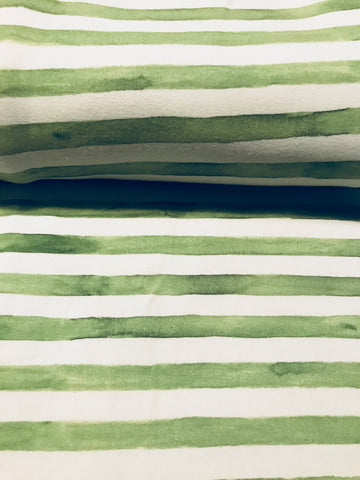 International Watercolour Stripes Green