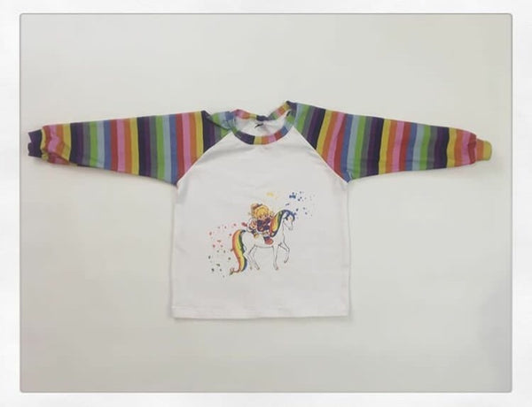 543W Rainbow Brite on Horse Child Panel (on WHITE)