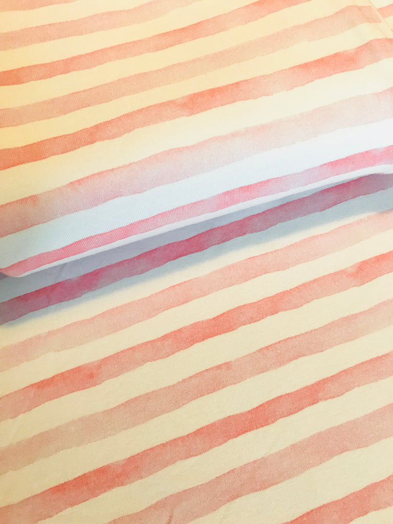 International Watercolour Stripes Pink