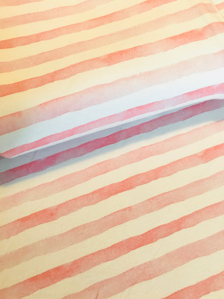 International Fabric Watercolour Stripes Pink