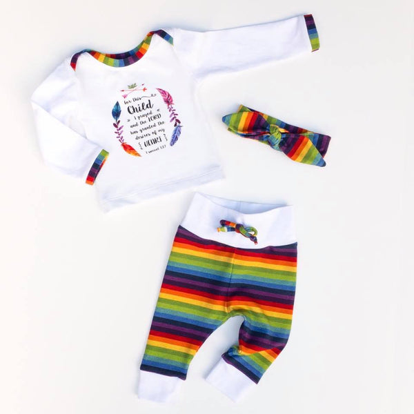 Classic Rainbow Stripes Fabric
